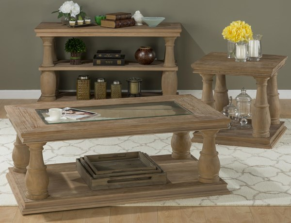 Big Sur Solid Wood Pine Coffee Table Set JFN-919-OCT
