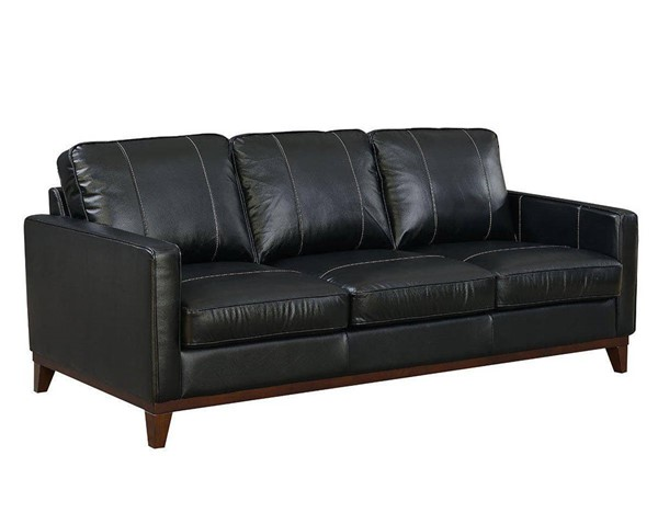 Jennifer Furniture Clancy Black Leather Queen Sleeper with Memory Foam JNF-MNY2647-BLACK-QMF-SL