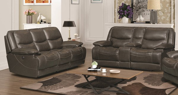 Jennifer Furniture Alden Gray 2pc Power Living Room Set JNF-MNY1672-GRAY-PWR-LR-S1
