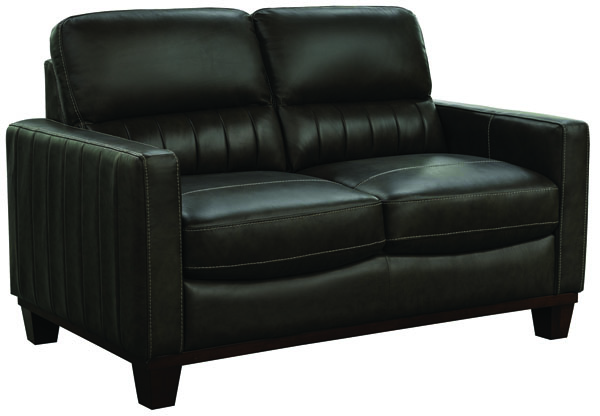 Jennifer Furniture Chevy Black Leather Loveseat JNF-MNY2648-BLACK-LS