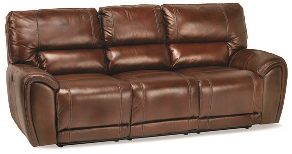 Jennifer Furniture Clark Walnut Power Sofa with Table JNF-MNY2193-4P