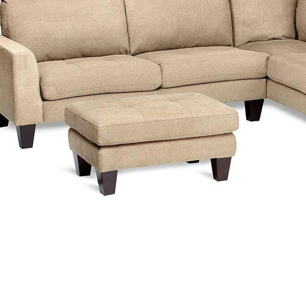 Jennifer Furniture Haney Beige Ottoman JNF-C3605-OTTO