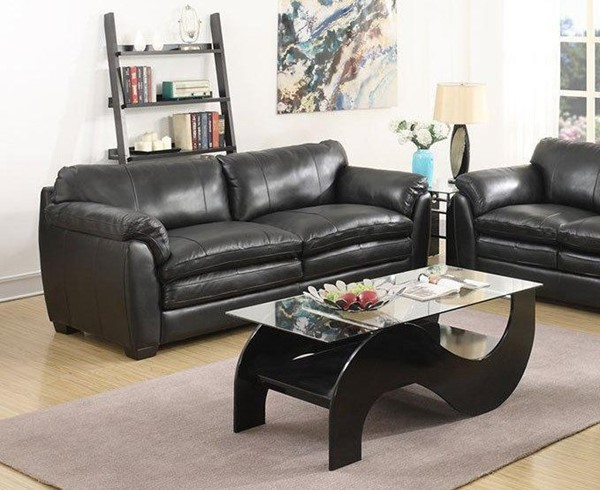 Jennifer Furniture Midtown Black Leather Queen Sleepers JNF-MNY1615-Q-SL-VAR