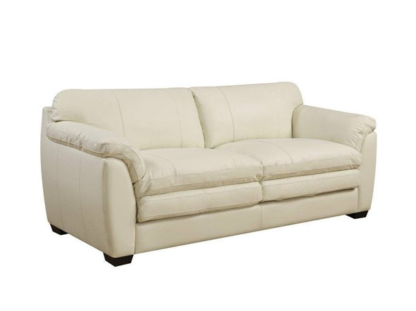 Jennifer Furniture Midtown Cream Leather Sofa JNF-MNY1615-CREAM-SF