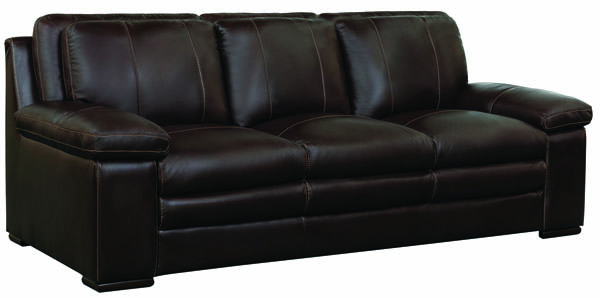 Jennifer Furniture Olds Brown Leather Sofa JNF-MNY2652-BROWN-SF
