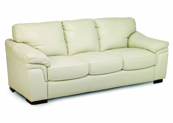 Jennifer Furniture Piero Cream Leather Queen Sleeper With Memory Foam JNF-MNY1682-WHITE-Q-SL