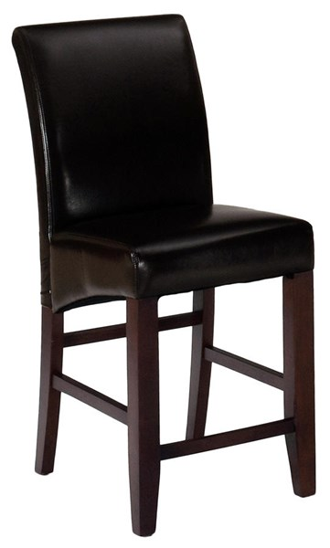 2 Carlsbad Contemporary Cherry Wood Bonded Leather Bar Stools JFN-888-BS485KD