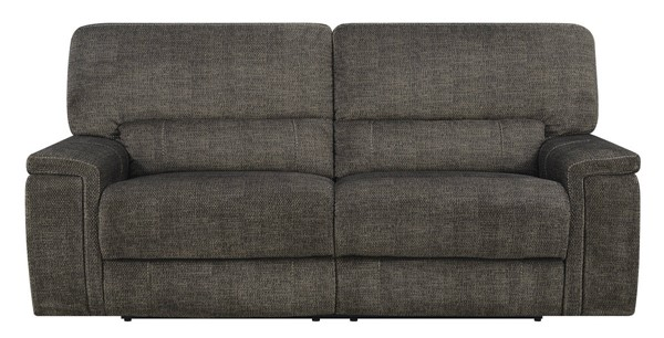 Kian USA Pyburn Smoke Fabric Power Reclining Sofa KIAN-101-80-35P2