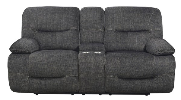 Kian USA Mansfield Navy Power Reclining Console Loveseat KIAN-97-80-25P2