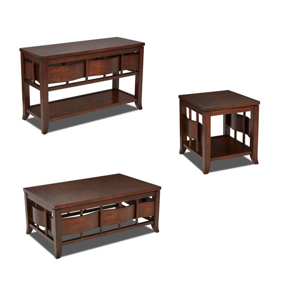 Allure Contemporary Birch Wood Coffee Table Set The Classy Home