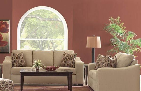 Darien Contemporary Light Camel Loveseat KLA-E15302