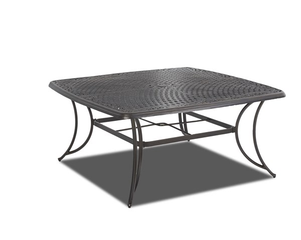 Basics Casual Metal Woven 60 Inch Square Dining Table