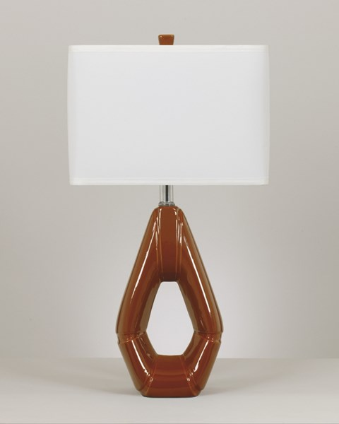 Rumiko Burnt Orange Ceramic 2 Table Lamps L118824