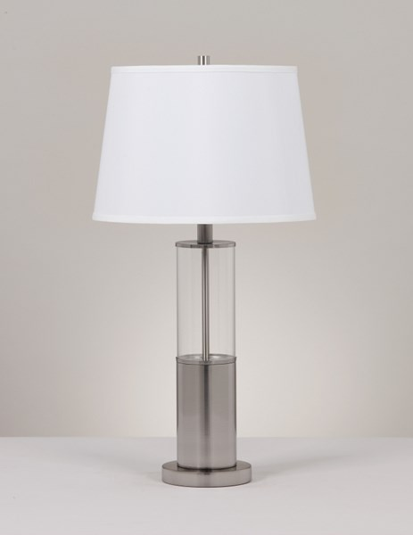 2 Ashley Furniture Norma Silver Metal Table Lamps L431354