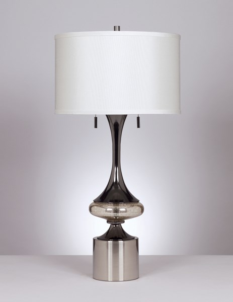 Marsha Casual Chrome Metal Table Lamp (2/CN) L433294