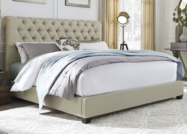 Liberty Upholstered Sleigh Beds LBRT-100-BR-QSL-BED-VAR