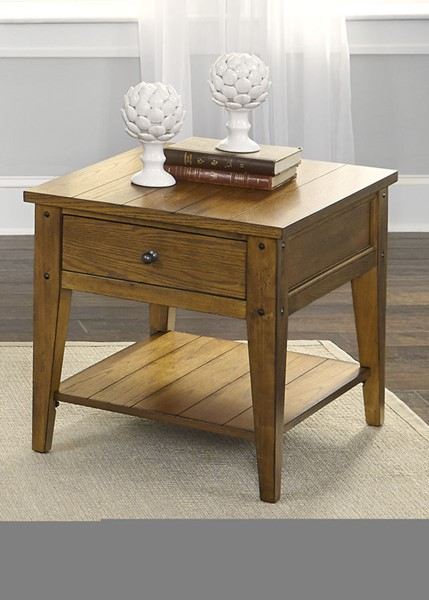 Liberty Lake House Oak End Table LBRT-110-OT1020