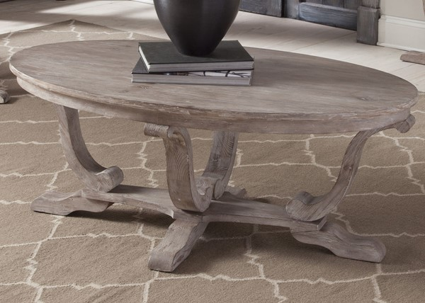 Liberty Greystone Mill White Wash Cocktail Table LBRT-154-OT1010
