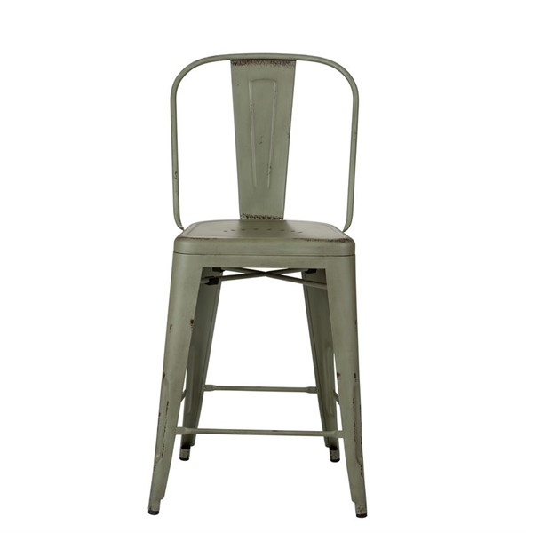2 Liberty Vintage Green Bow Back Counter Chairs LBRT-179-B350524-G