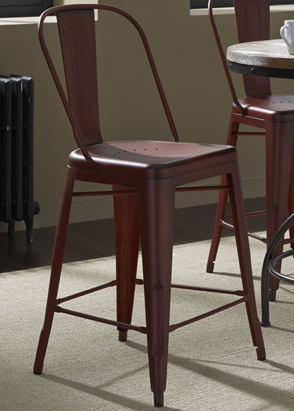2 Liberty Vintage Red Bow Back Counter Chairs LBRT-179-B350524-R
