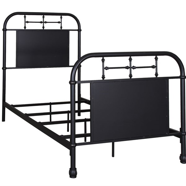 Liberty Vintage Youth Black Twin Metal Bed LBRT-179-BR11HFR-B