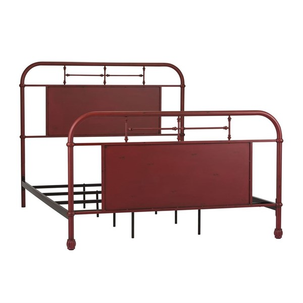 Liberty Vintage Youth Red Twin Metal Bed LBRT-179-BR11HFR-R