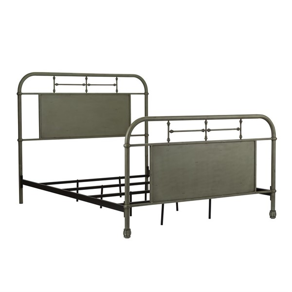Liberty Vintage Green Queen Metal Bed LBRT-179-BR13HFR-G