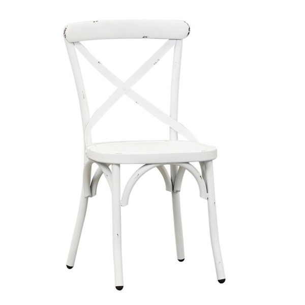 2 Liberty Vintage Series White X Back Side Chairs LBRT-179-C3005-AW