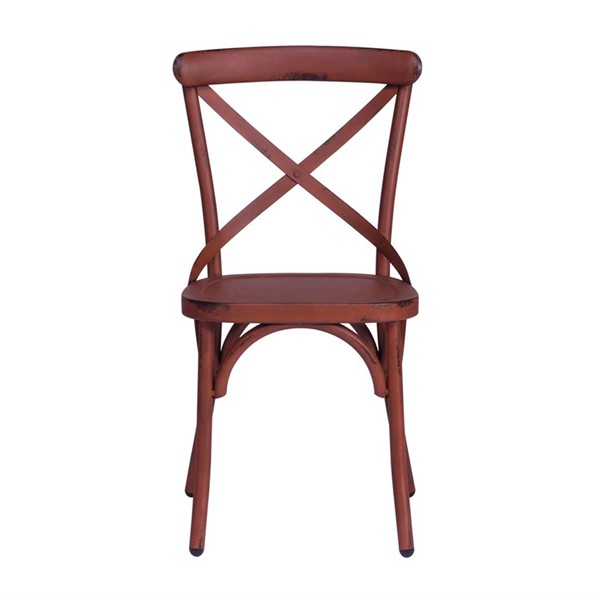 2 Liberty Vintage Red X Back Side Chairs LBRT-179-C3005-R