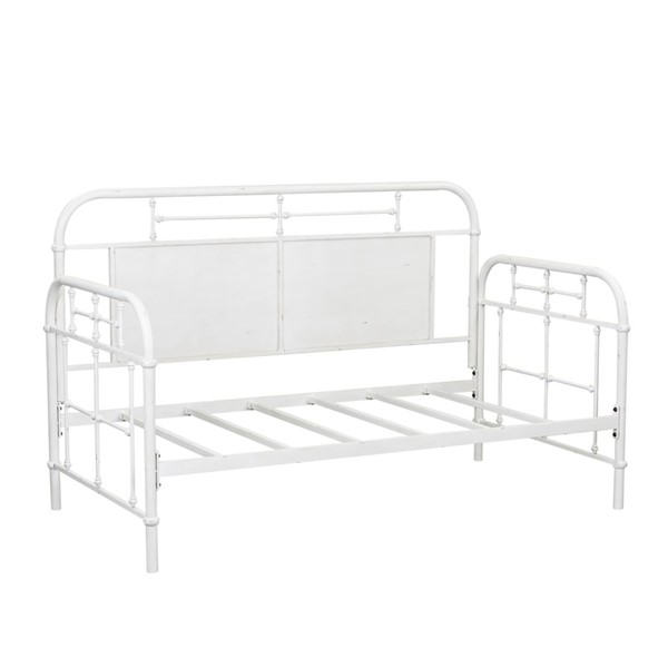 Liberty Vintage Series Antique White Twin Metal Day Bed LBRT-179-BR11TB-AW