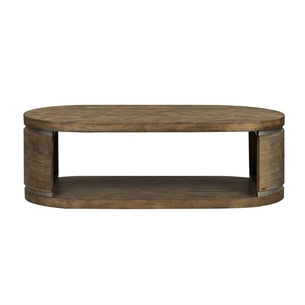 Liberty West End Gray Wash Pine Oval Cocktail Table LBRT-193-OT1010