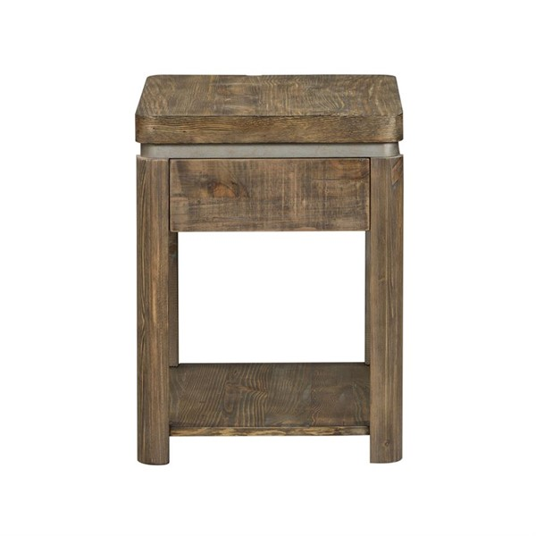 Liberty West End Gray Wash Pine Chair Side Table LBRT-193-OT1022
