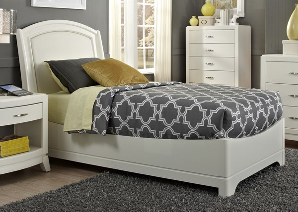 Liberty Avalon II Youth White Truffle Upholstered Beds LBRT-205-YBR-TLB-BED-VAR