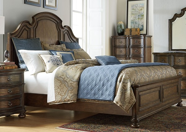 Liberty Tuscan Valley Panel Bed LBRT-215-BR-QPB-VAR