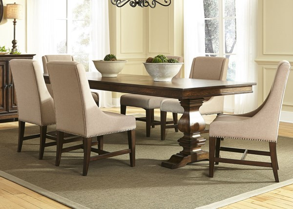 Liberty Armand Antique Brown 7pc Dining Room Set LBRT-242-DR-7TRS