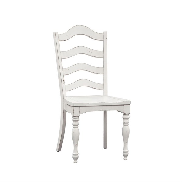2 LIberty Magnolia Manor White Ladder Back Side Chairs LBRT-244-C2000S