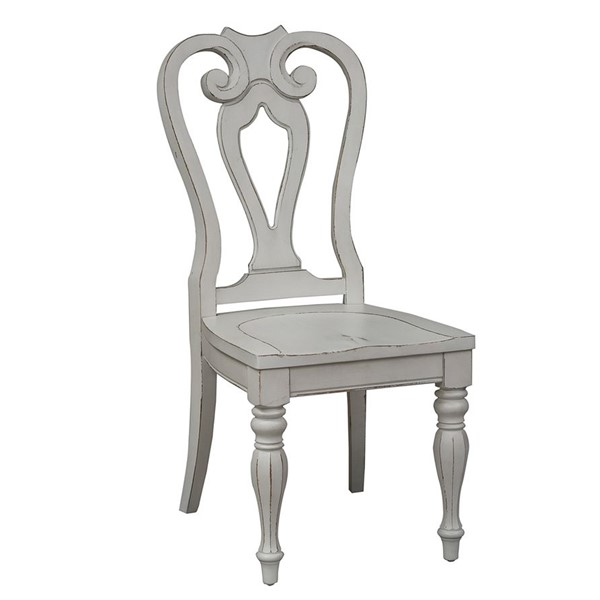 2 Liberty Magnolia Manor White Traditional Splat Back Side Chairs LBRT-244-C2500S