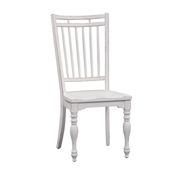 2 Liberty Magnolia Manor White Spindle Back Side Chairs LBRT-244-C4000S