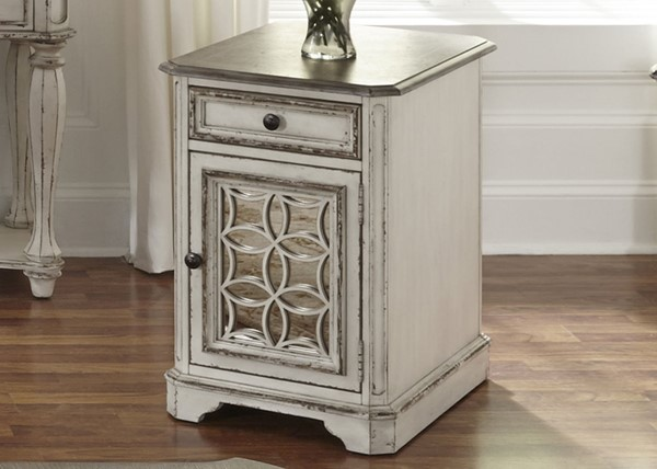 Liberty Magnolia Manor White Chair Side Table LBRT-244-OT1021