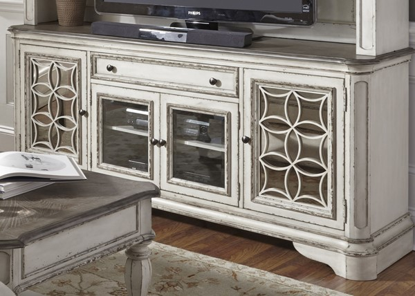 Liberty Magnolia Manor White Entertainment TV Stand LBRT-244-TV74