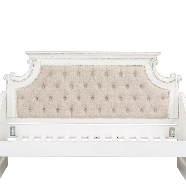 Liberty Magnolia Manor White Daybed Upholstered Back LBRT-244-BR09HUB