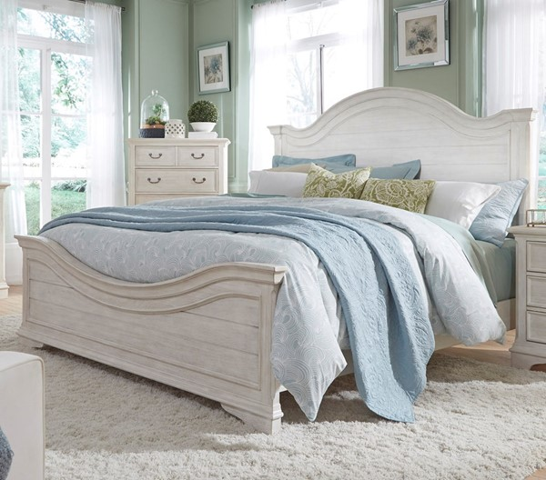 Liberty Bayside White Arched Panel Beds LBRT-249-BR-QPB-BED-VAR