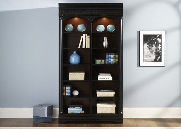 Liberty St Ives Jr Executive Chocolate Bunching Bookcase LBRT-260-HO201
