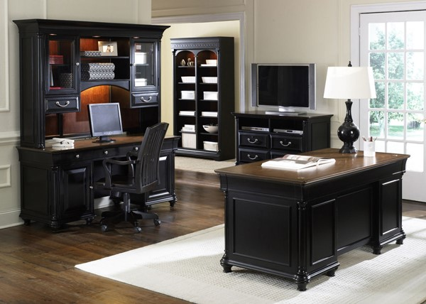 Liberty St Ives Jr Executive Chocolate Office Furniture Set LBRT-260-HOJ-5JES