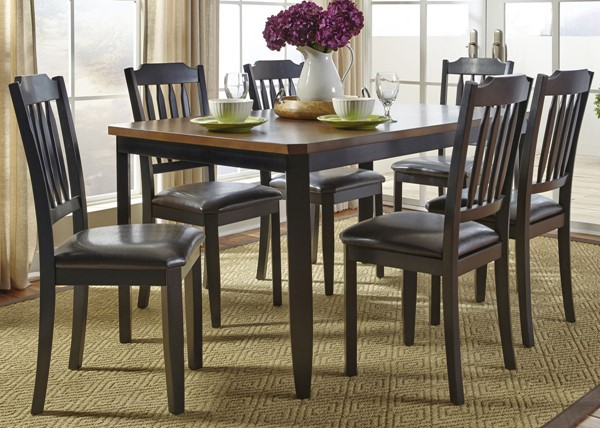 Liberty Devonwood Black 7pc Rectangle Table Set LBRT-284-CD-7RLS
