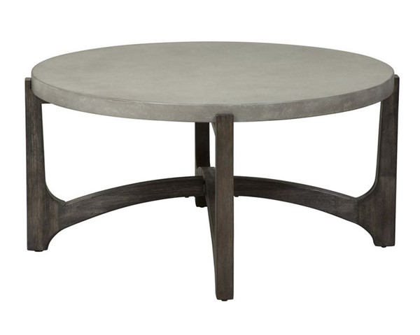Liberty Cascade Round 3pc Coffee Table Set With Chair Side Table LBRT-292-OT1011-OCT-S2