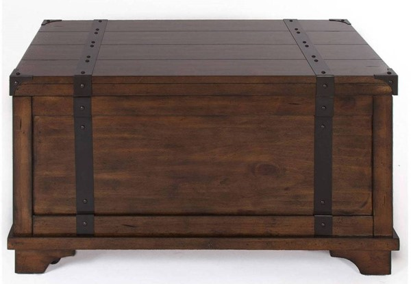 Liberty Aspen Skies Russet Brown Trunk Cocktail Table LBRT-316-OT1010