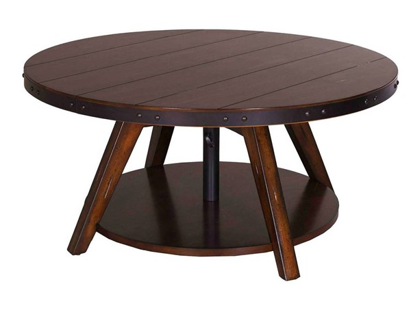 Liberty Aspen Skies Russet Brown Motion Cocktail Table LBRT-316-OT1011