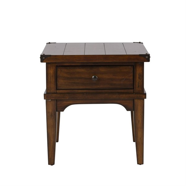 Liberty Aspen Skies Russet Brown End Table LBRT-316-OT1020