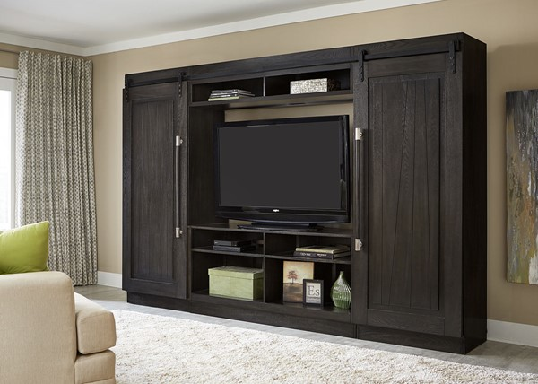 Liberty Abbey Charcoal Entertainment Center with Sliding Door LBRT-328-ENTW-ECP